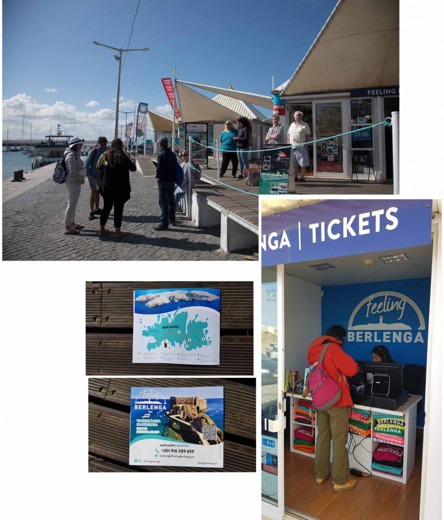 Getting our tickets to Berlenga