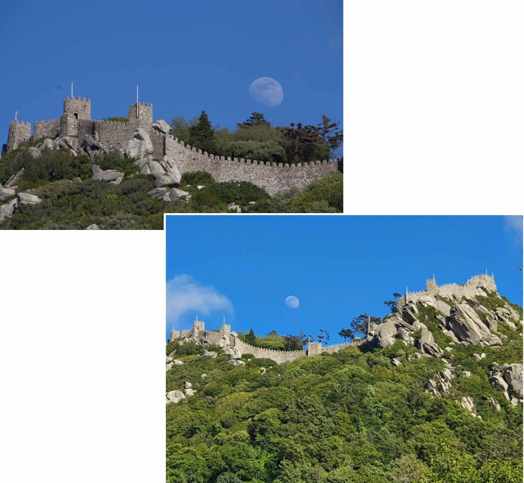 Castelo dos Mouros as seen from the ground of Quinta da Regaleira