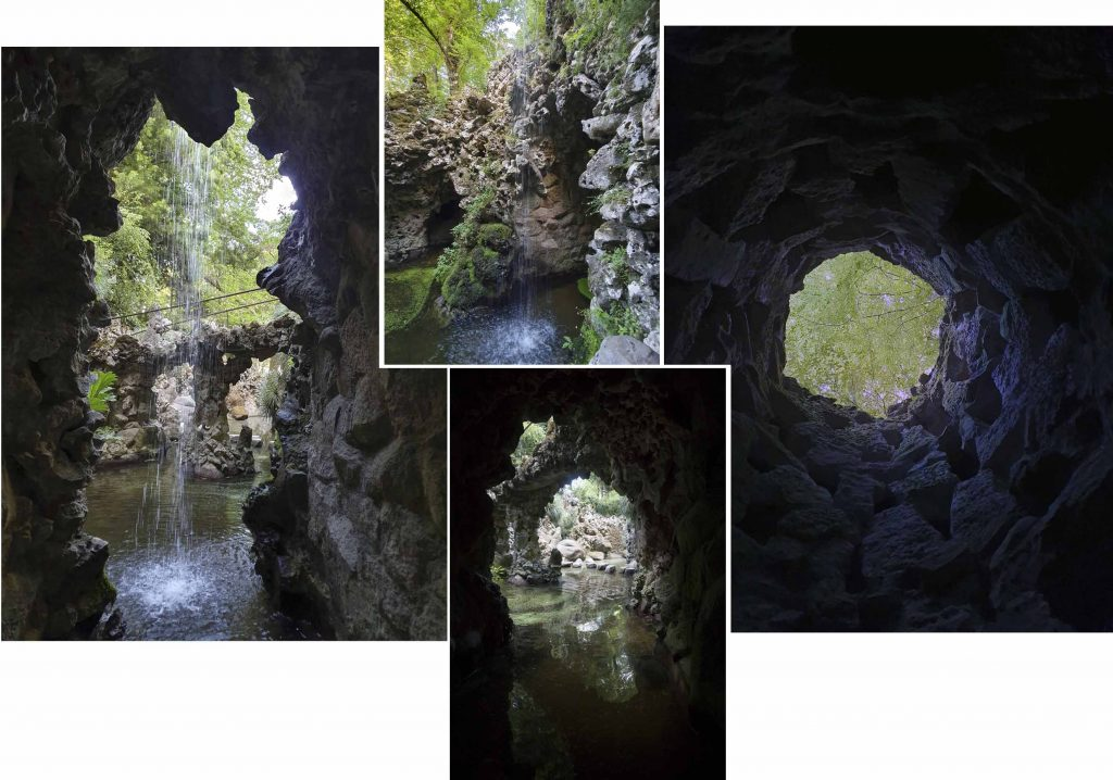 A cave/water garden and the Unfinished Well