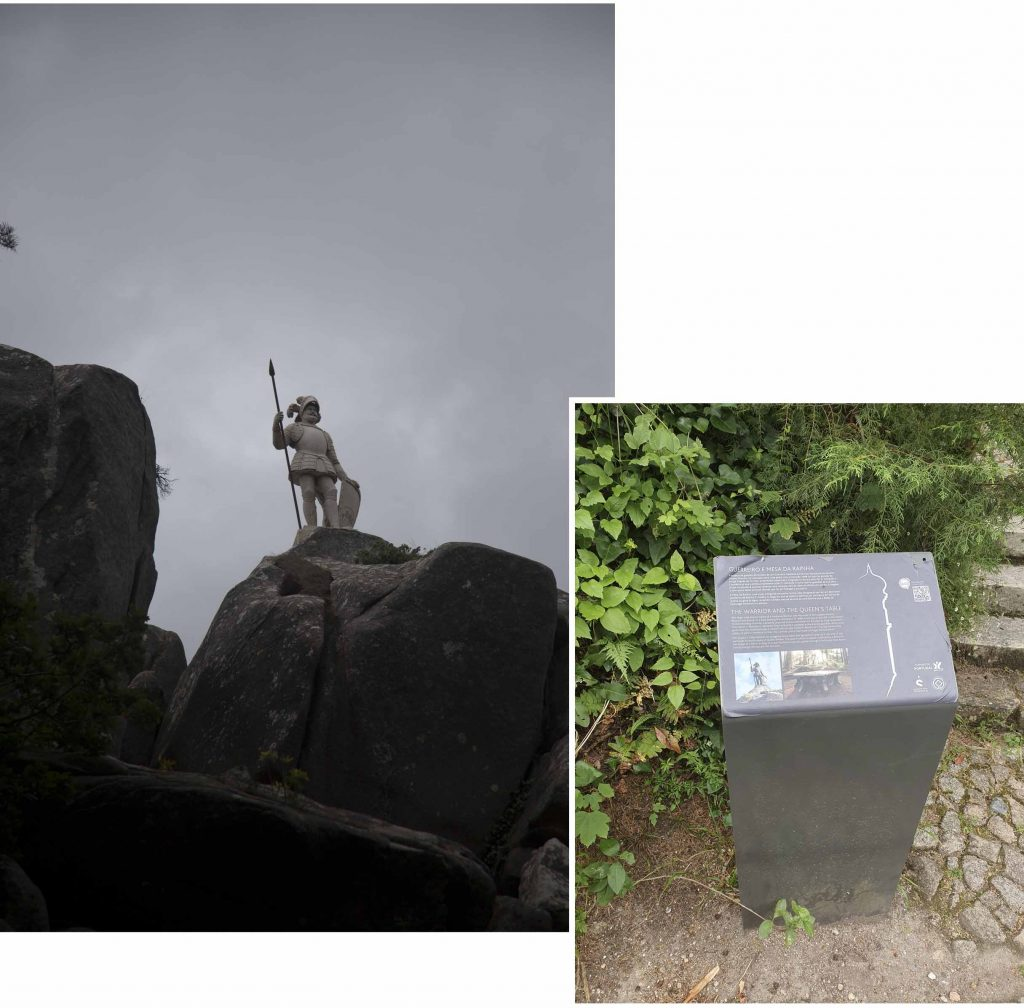 Warrior Statue in National Park and Palace of Pena