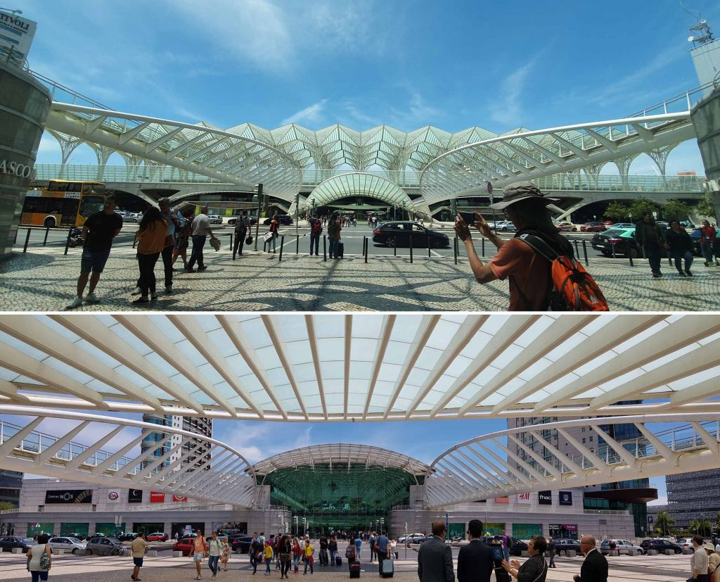 Beautiful farcade of Estação do Oriente (station)