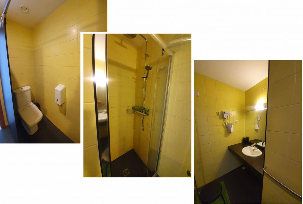 Ensuite toilet of our double room