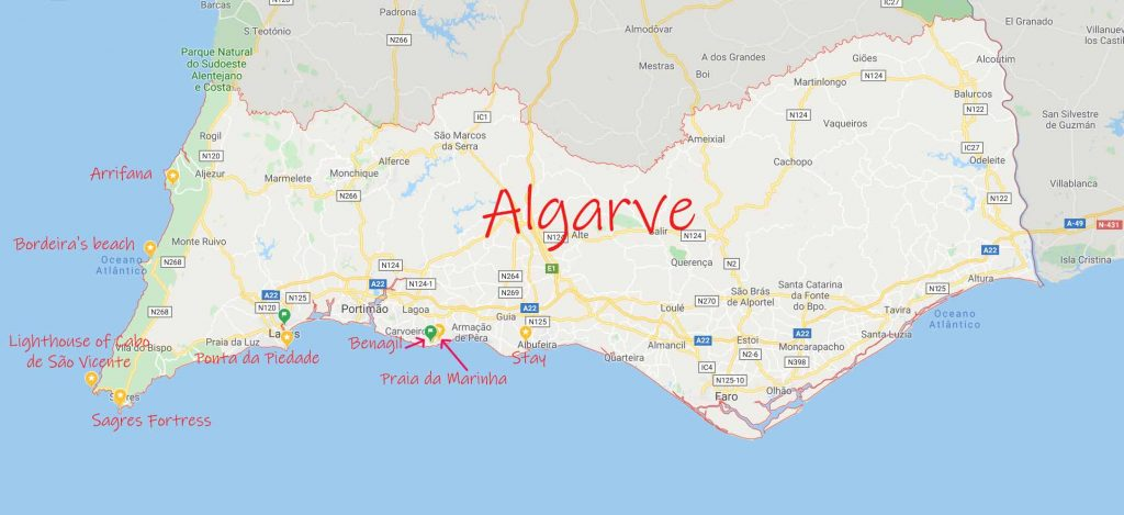 Beautiful destinations in Algarve