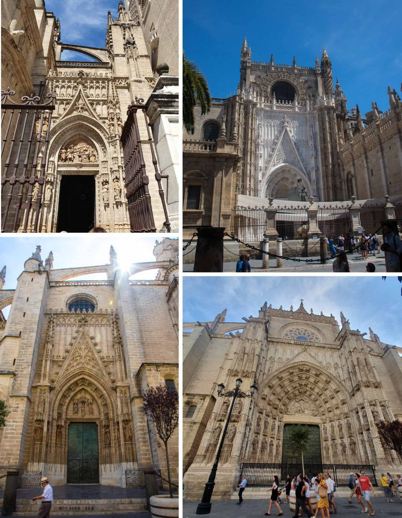 The doors of Catedral de Seville