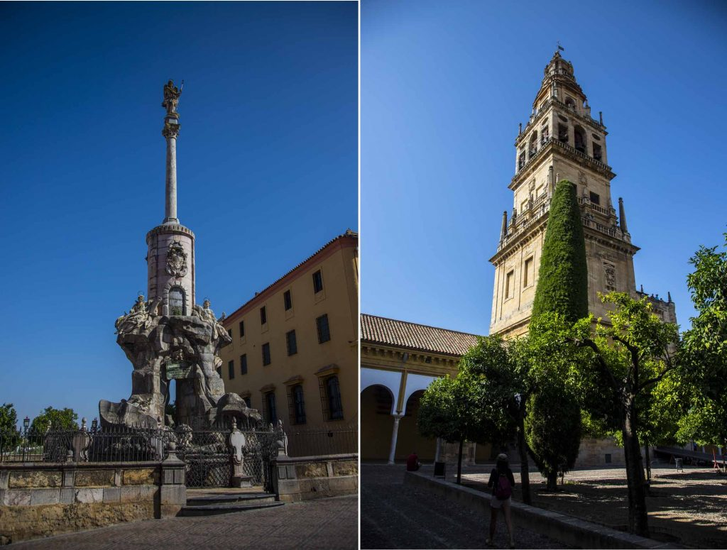 Triunfo de San Rafael (left) and Bell tower (right)