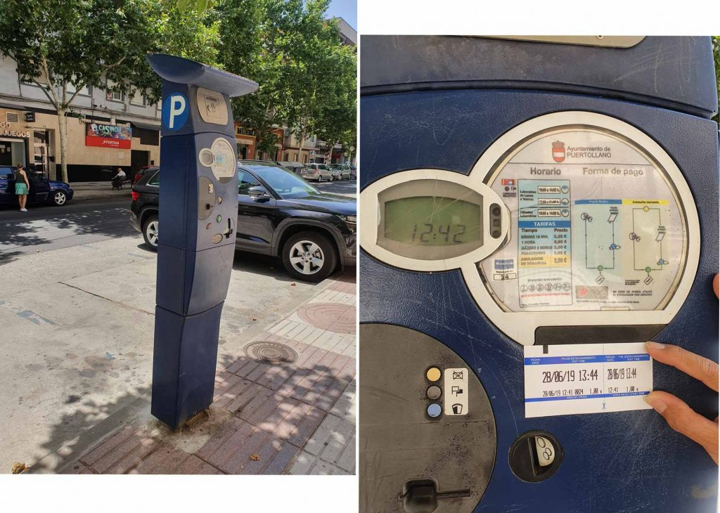 Typical parking meter