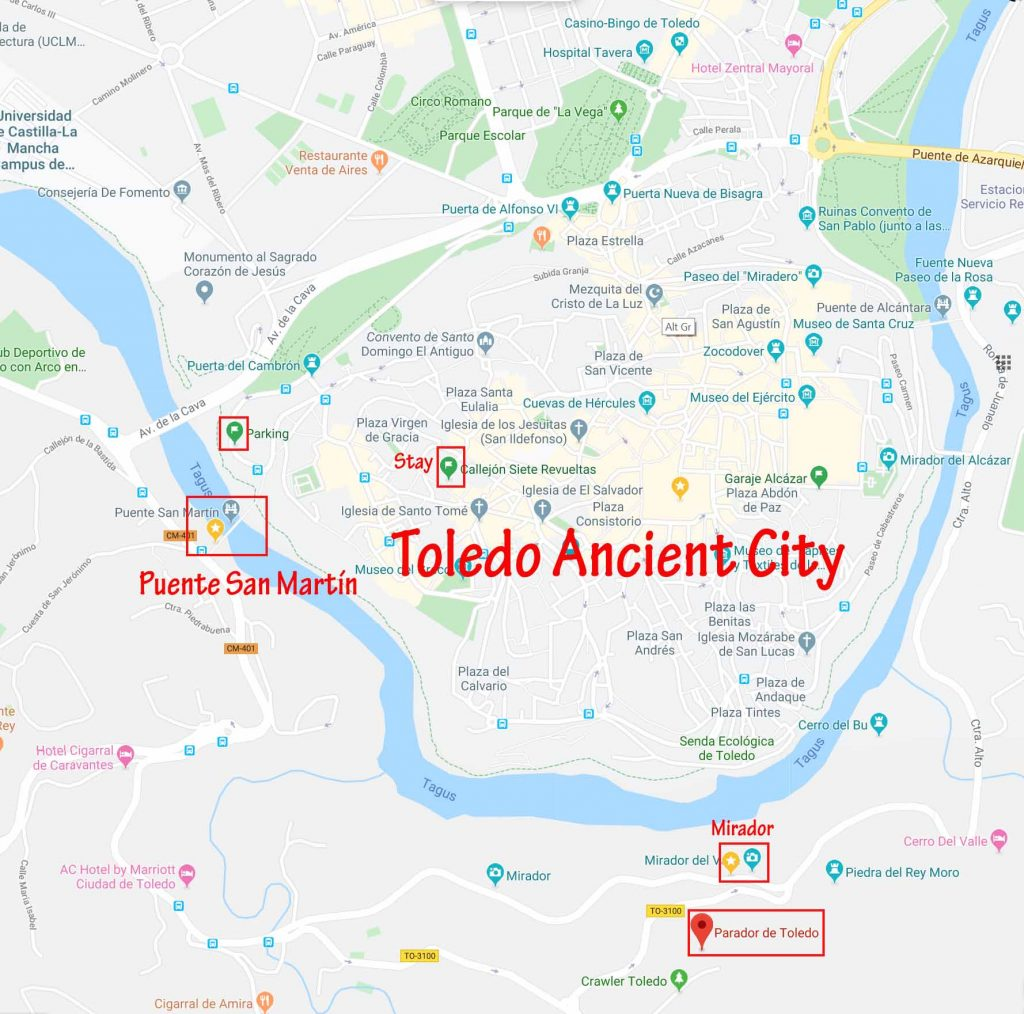 Toledo Ancient City and its miradors