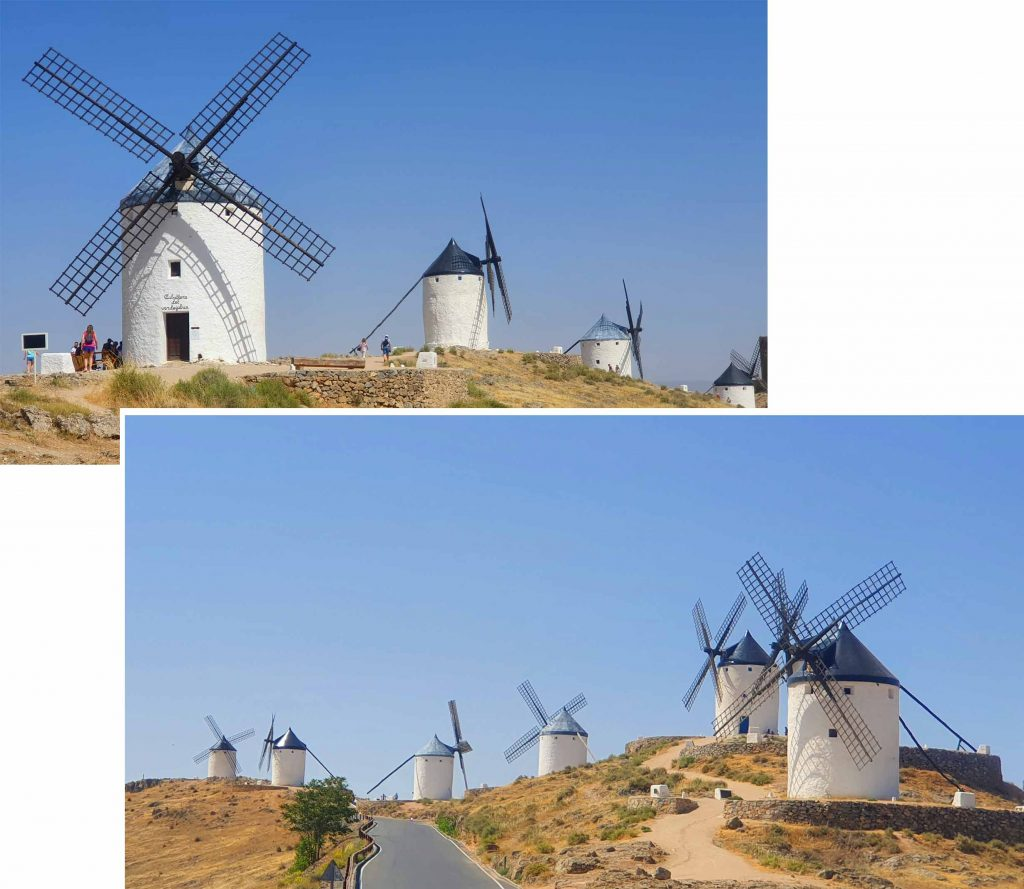 Windmills of Consuegra in the morning