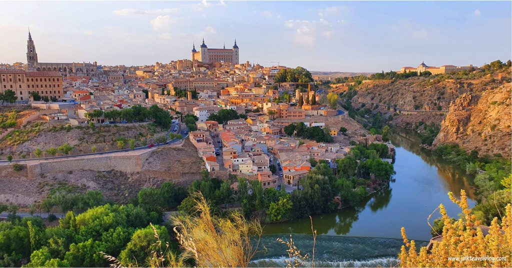 View of Toledo Ancient City at sunset