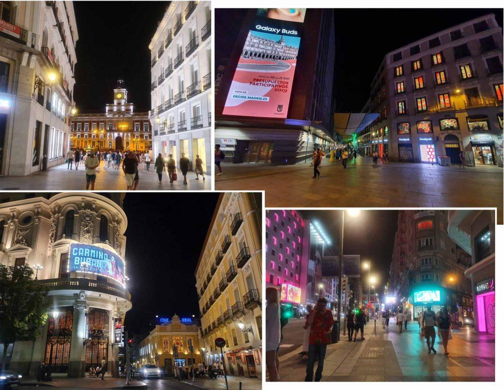 Night scene of Madrid Street