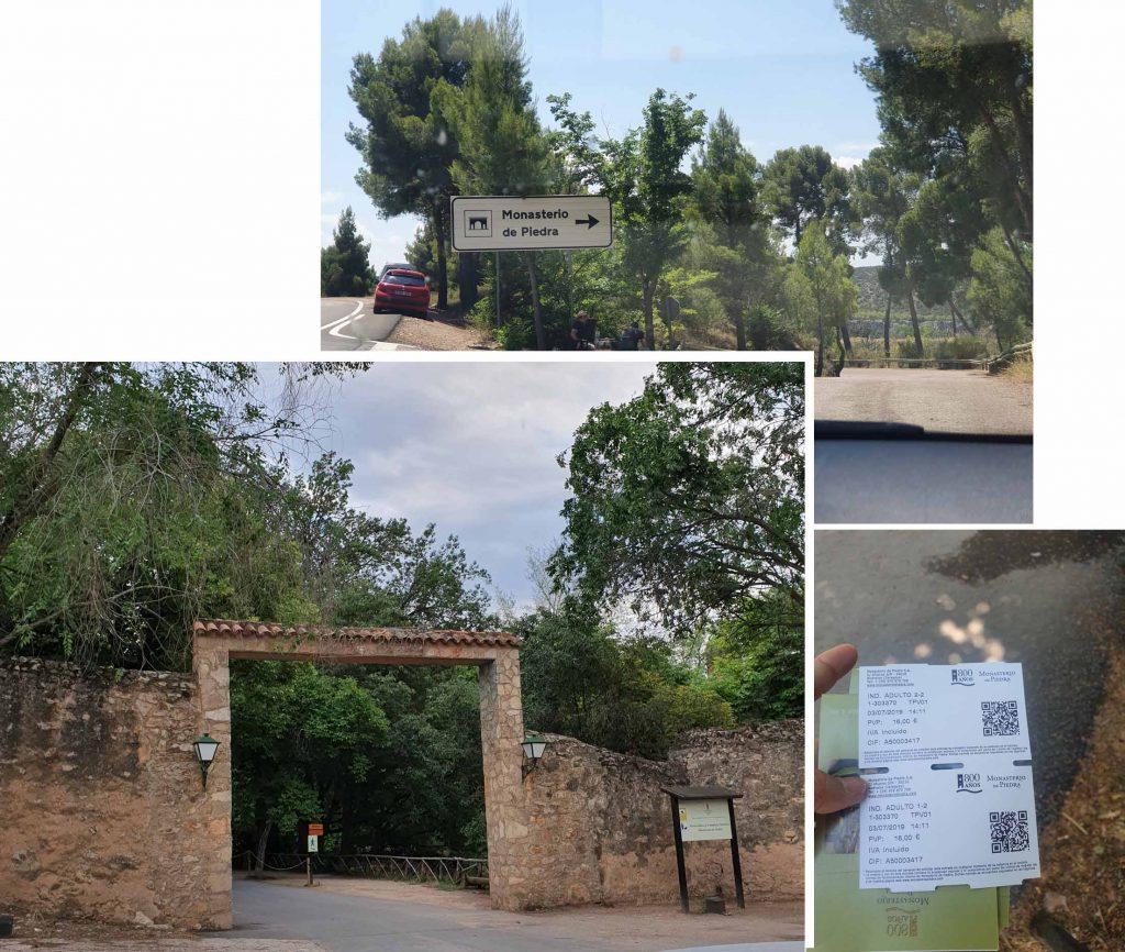Entrance to Monasterio de Piedra Natural Park