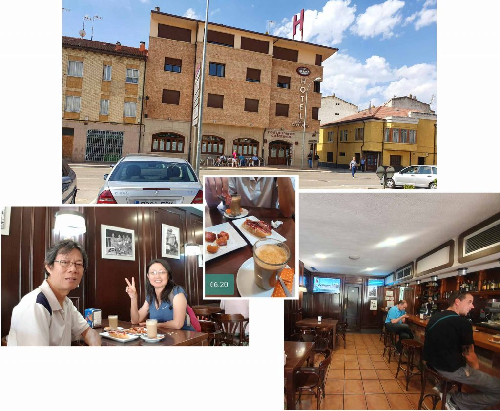 Coffee Break at San Esteban de Gormaz, Soria, Spain