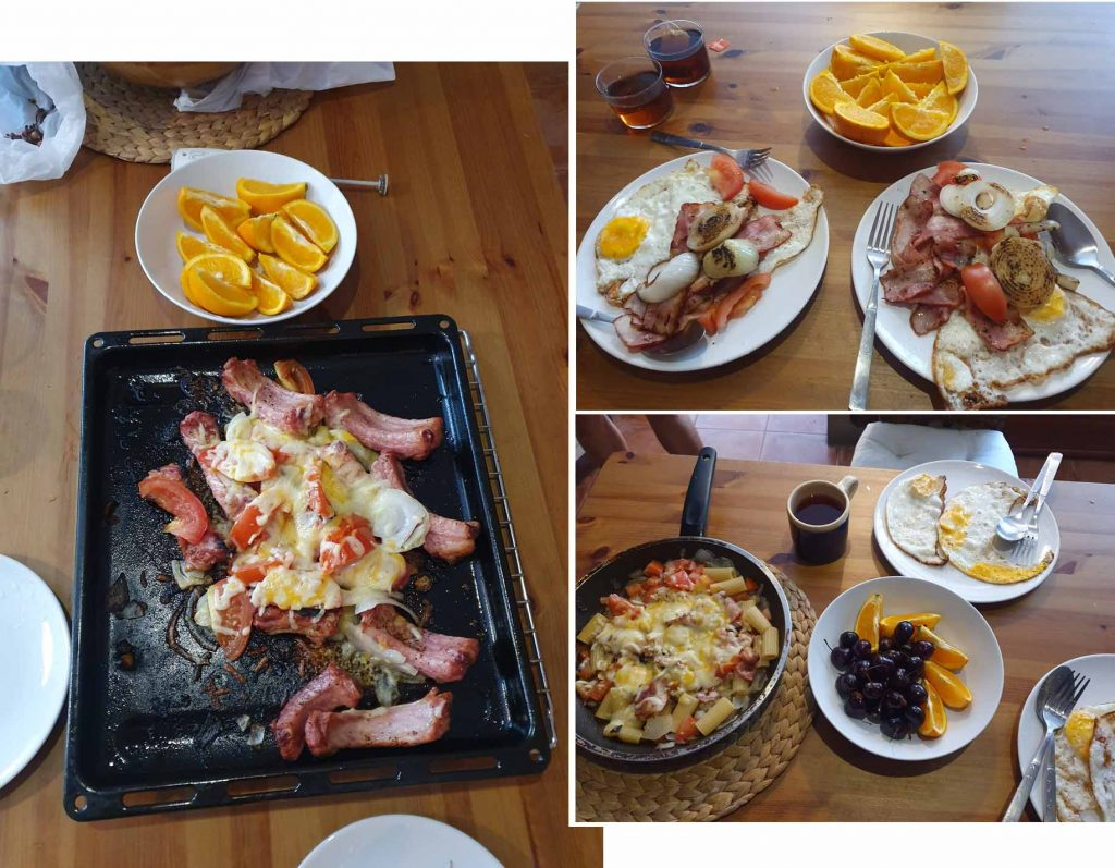 Our diy meal at our stay