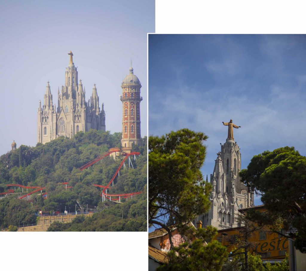A far view of Temple of Tibidabo