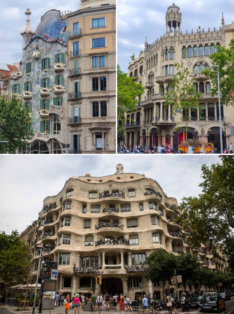 Casa Batllo (topleft) & Casa Mila (bottom)
