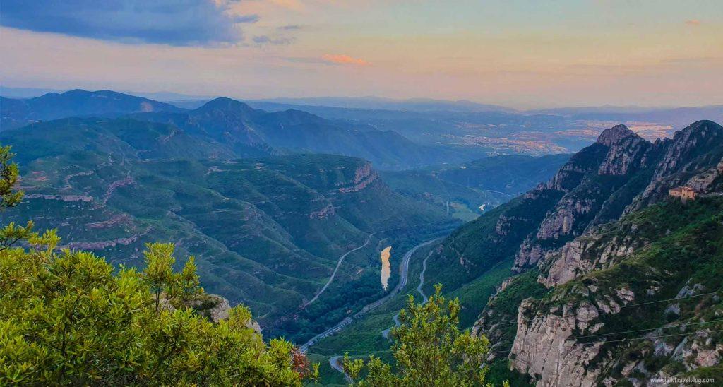 Sunset view at Montserrat