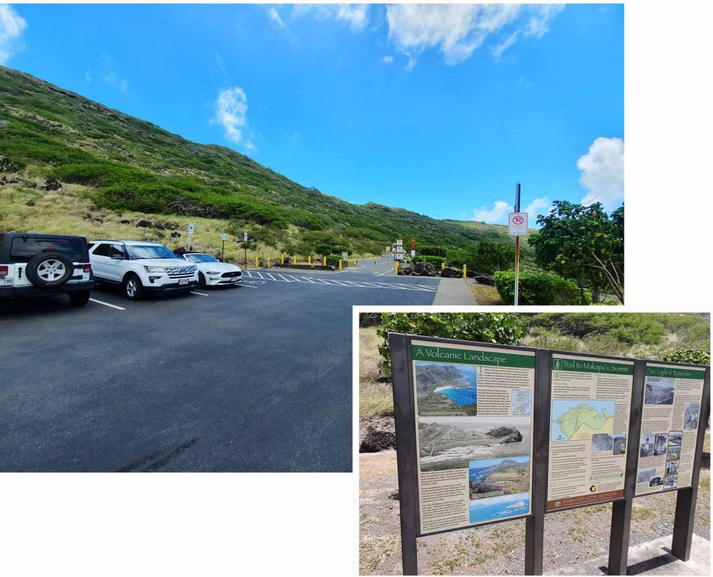 Carpark (free of charge) at start of Makapuu Point Lighthouse trail