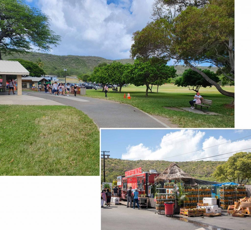 Rest area at the start of the hike up Diamond Head