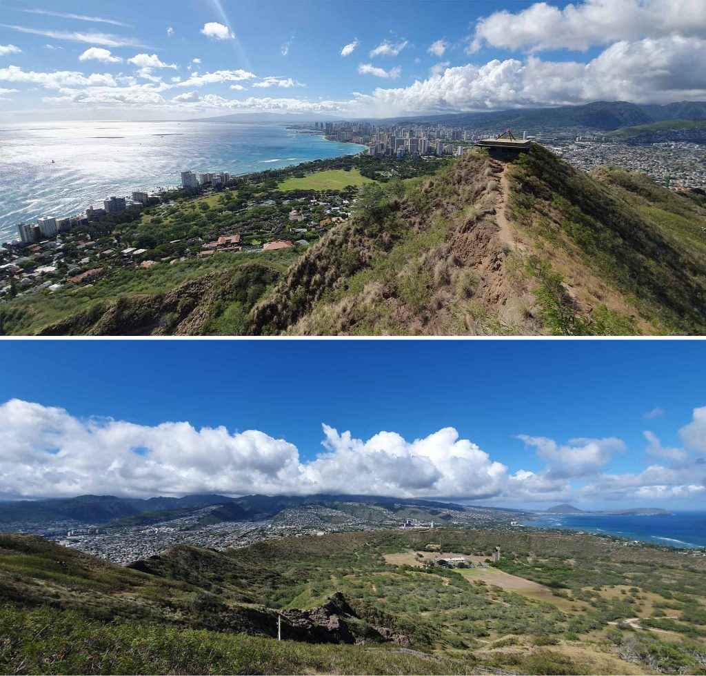 View of southern Oahu from summit of Diamond Head