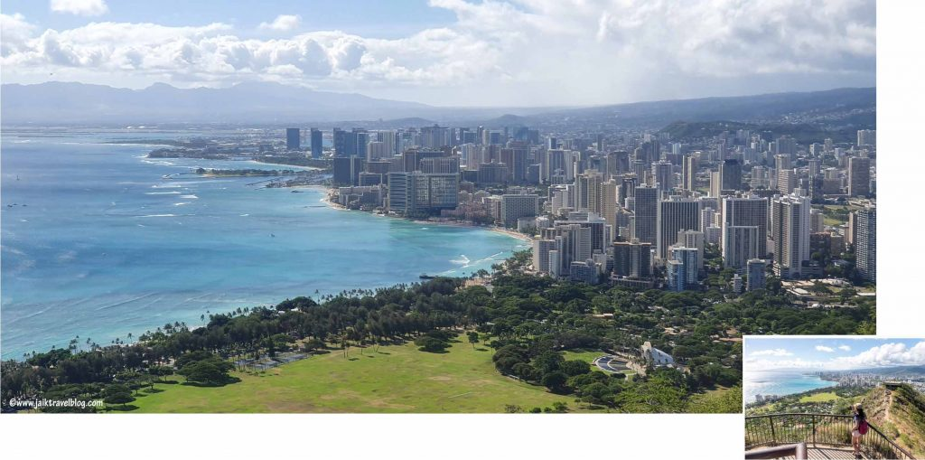 Waikiki as seen from summit of Diamond Head