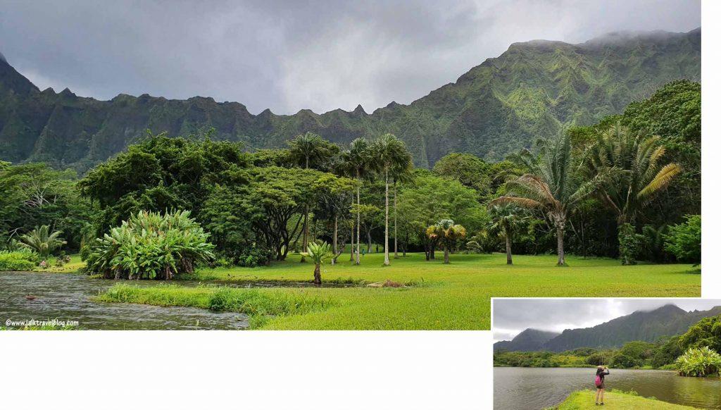 Lake Waimaluhia of Ho'omaluhia Botanical Garden