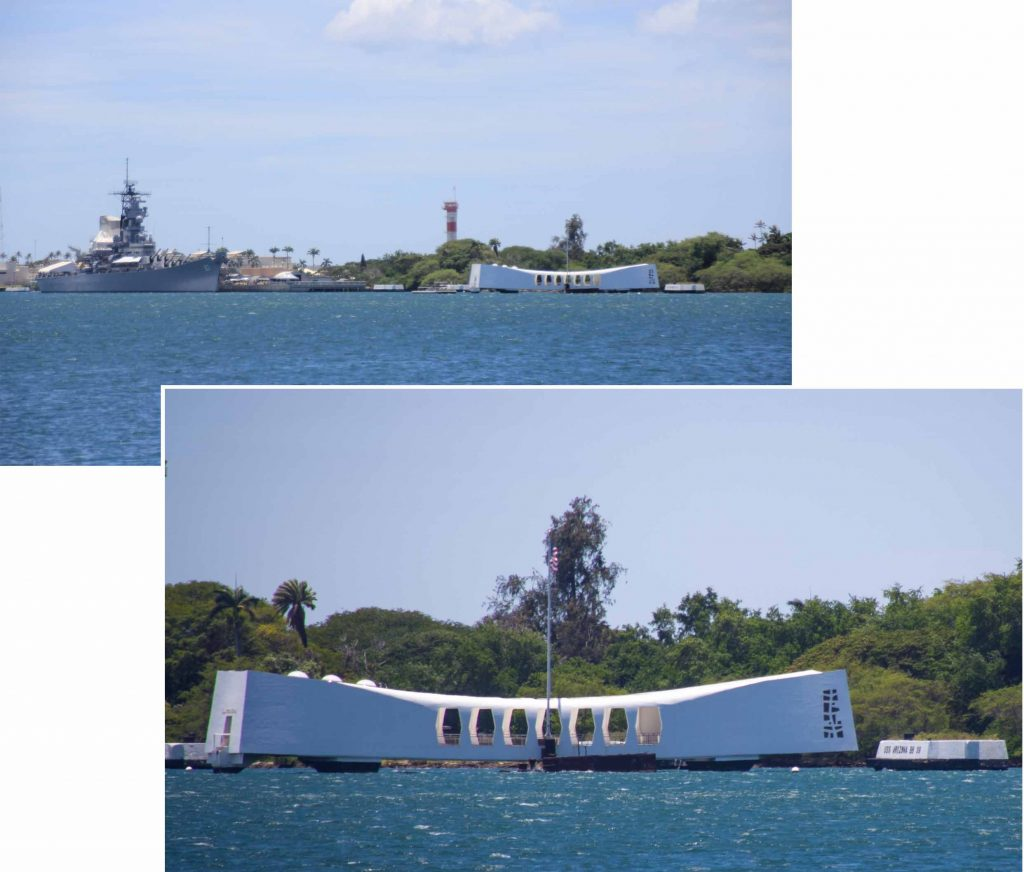 Viewing platform for sunken USS Arizona