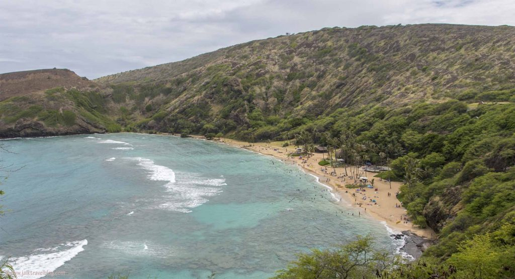 Hanauma Bay Beach as viewed near the carpark