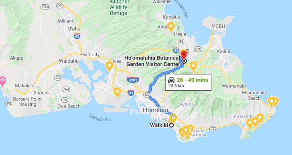 Waikiki to Ho'omaluhia Botanical Garden