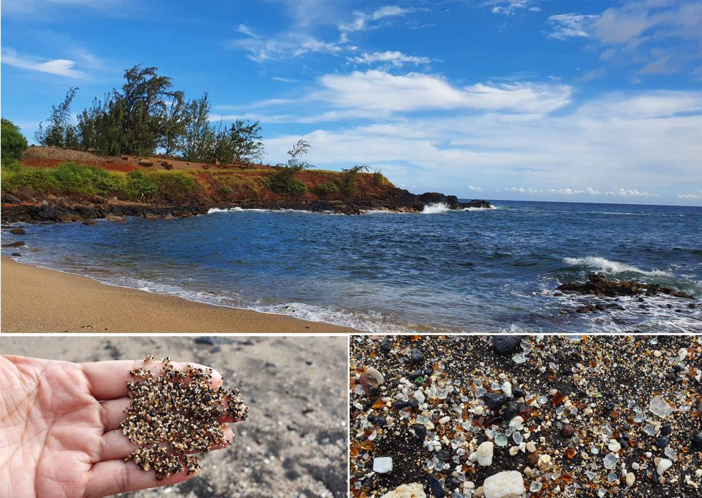Glass beach at Kauai