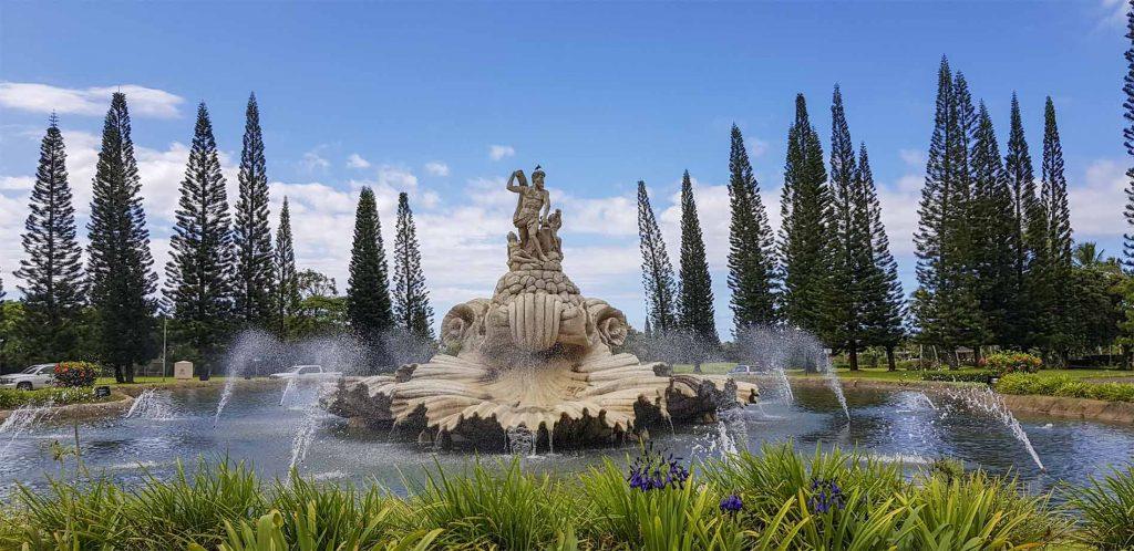 A beautiful fountain near the entrance of Princeville