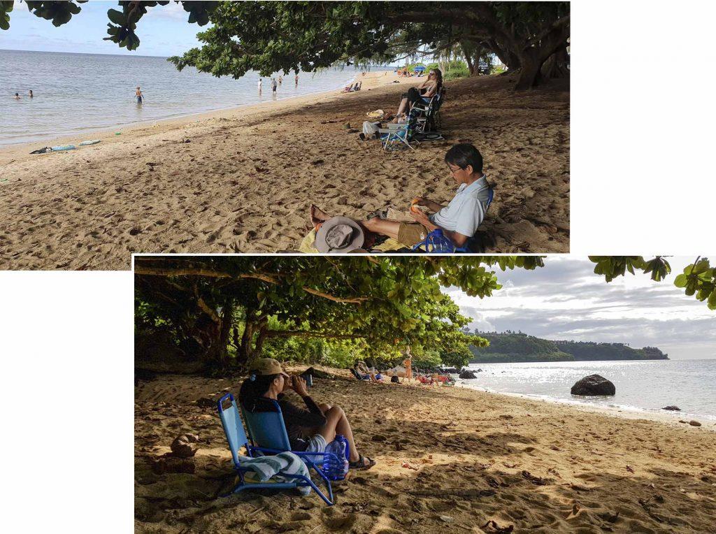 Relaxing at Anini Beach