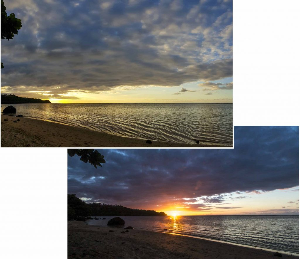 Sunset as seen from Anini Beach
