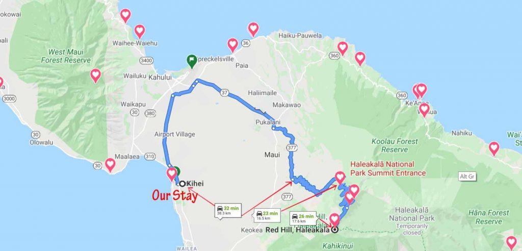 Route to Haleakala Summit
