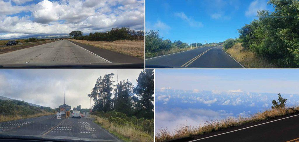 On way to Haleakala Summit