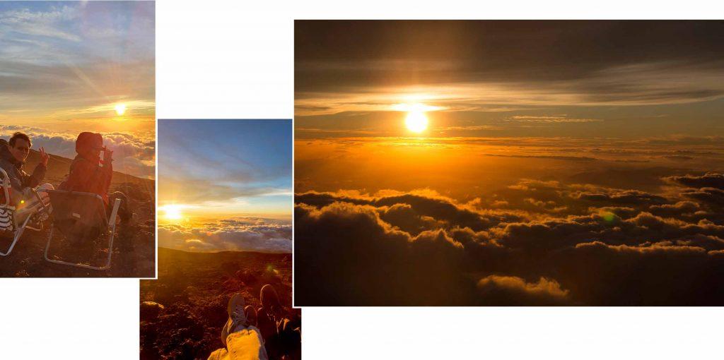 Viewing sun set at Haleakala Summit