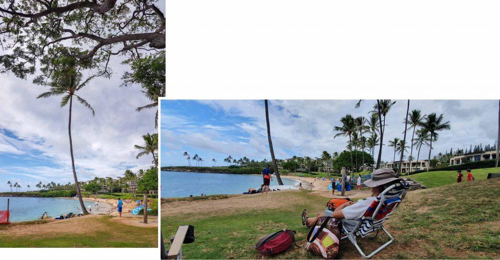 Relaxing at Kapalua Bay Beach