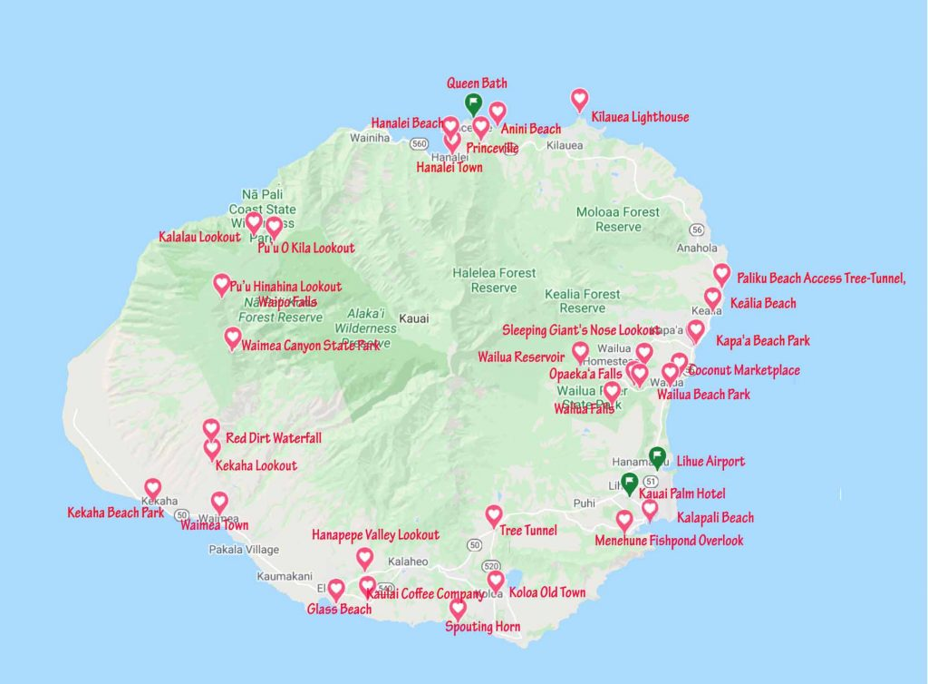 Kauai attractions that we visited