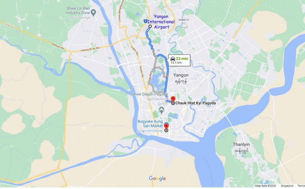 Short drive to Chaut Htat Kyi Pagoda
