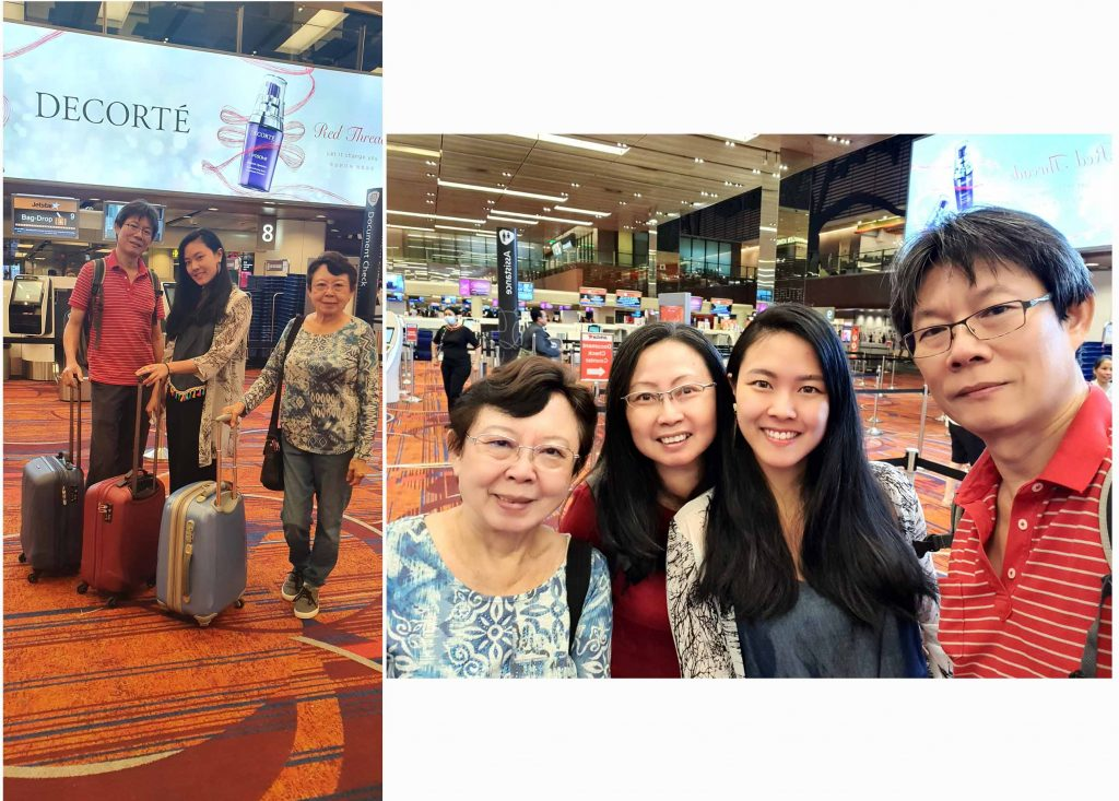 Arriving at the Changi International Airport at 7am.