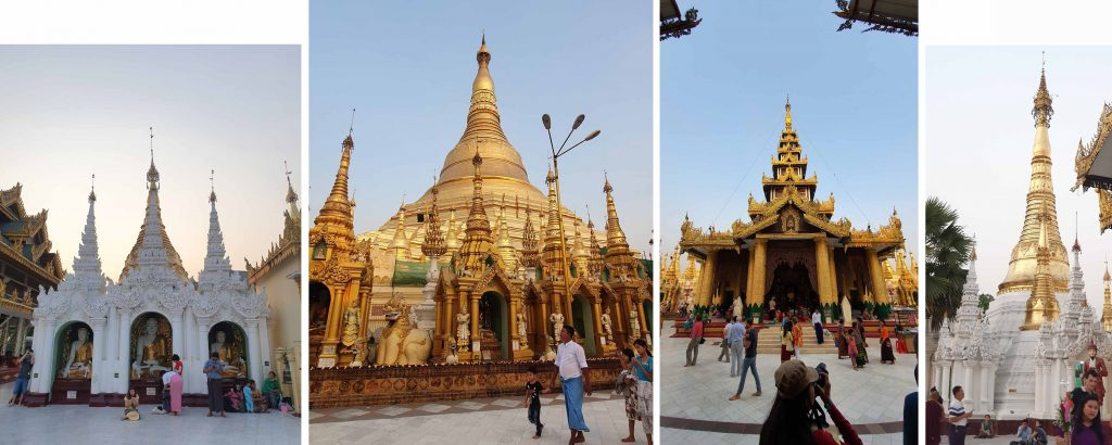 Many beautiful structures at Shwedagon Pagoda
