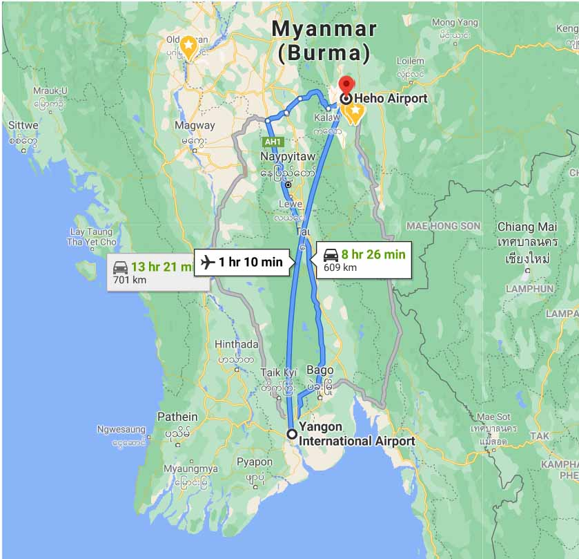 From Yangon to Inle Lake