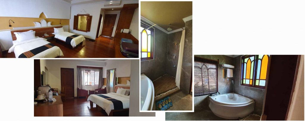Our double and twin room at Ananta Inlay Resort