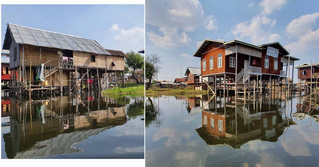 Floating village at Inle Lake