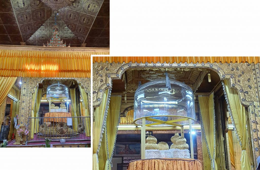 The five golden images of Buddha