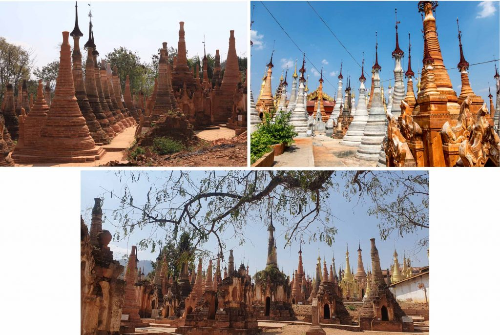 We lost count of the number of stupas