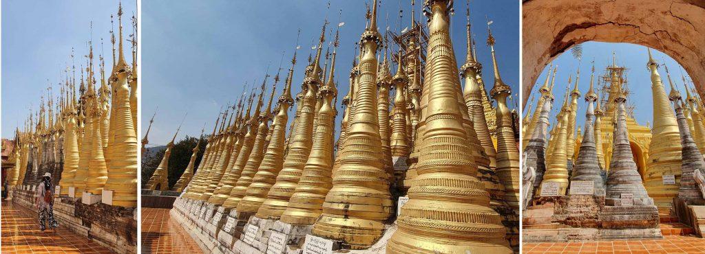 More golden stupas at Shwe Indein Pagodas