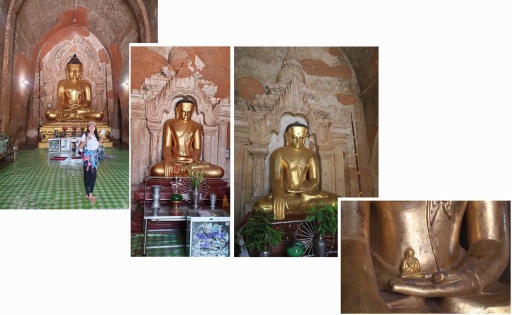 Buddhas in Htilominlo Temple