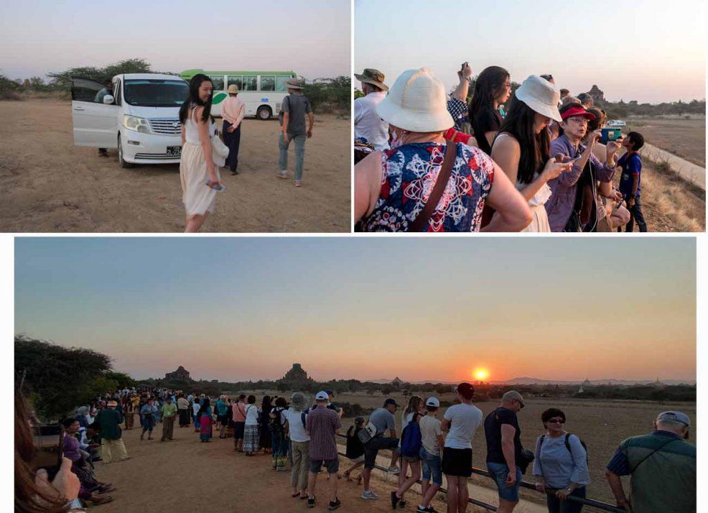 A sunset viewing place at Bagan