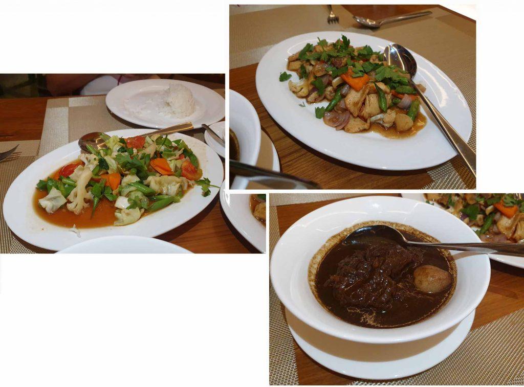 Dinner at our hotel restaurant
