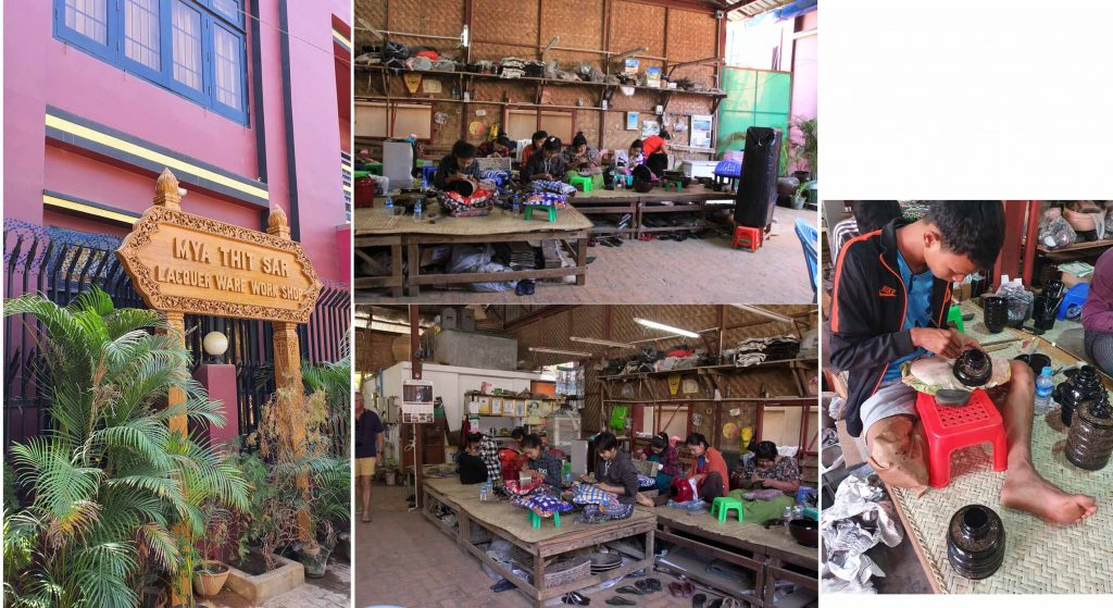 Lacquer craft workshop in Bagan